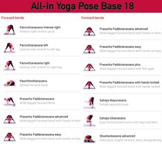 All-in Yoga pose base page 18