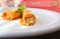 Canelone de Ricota e Espinafre, ao Molho Pomodoro www.familiatagliari.com.br www.facebook.com/familiatagliari