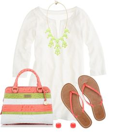 """""""Key Lime & Coral"""" by qtpiekelso on Polyvore"""