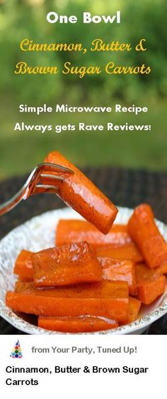 The brown sugar, #cinnamon and butter complements the fresh flavor of the carrots perfectly.  A real crowd-pleaser #recipe http://www.zhounutrition.com/