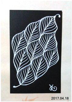 名片卡 - 練習與黑紙磚相處 - 017 Leaflet