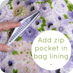 Add a zip pocket to your lining