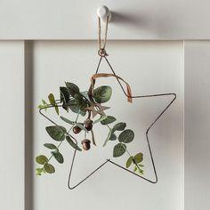 Eucalyptus Hanging Star Christmas Decoration