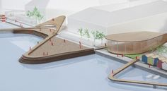 Gallery of New BIG-Designed Neighborhood to Activate Aarhus' Waterfront - 18 - Baltimore waterfront - Landscape Landscape Architecture Model, Floating Architecture, Water Architecture, Concept Architecture, Aarhus, Landscape Concept, Urban Landscape, Landscape Design, Big Design