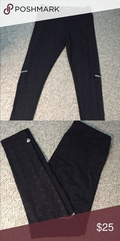 NWOT Marina yoga/ biking reflective pant Great asymmetrical design Marika Pants Track Pants & Joggers