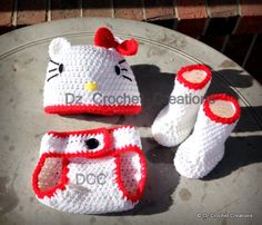 Photo Prop  Newborn 03 month Diaper Cover Set by HandMadeByDz, $23.00