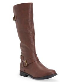 Faux Leather Buckle Boot from Blue Suede Shoes
