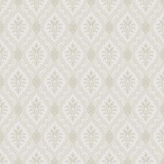 Lily Beige and White wallpaper by Boråstapeter