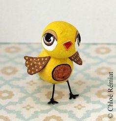 Pájaro de mini amarillo por chloeremiat en Etsy