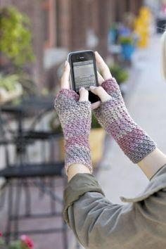 Cross Stitch Crochet Fingerless Gloves pattern by Andee Graves.