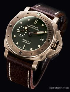 Panerai Luminor Submersible 1950 3 Days Automatic Diving Watch in Bronze (PAM 382)