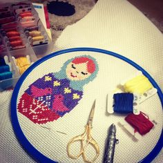 Crosstitch#matruşka#kanaviçe