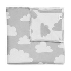 Farg Form . Soft Baby Blanket . Grey & White Clouds