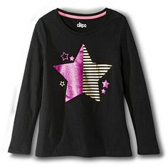 Girls' Long-Sleeve Graphic Tee