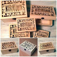Laser cut personalised name wooden #keepsake box #christening baby #wedding gift , View more on the LINK: http://www.zeppy.io/product/gb/2/121694692839/