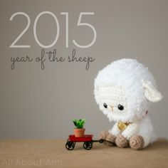 "Sneak peek of upcoming blog post & free pattern: Chinese New Year Sheep We need help naming this little cutie! Please leave a comment below with your name suggestions- we always love your ideas! If you'd like to buy the yarn ahead of time to make your own Chinese New Year Sheep, I used: Bulky white fluffy yarn, level 5 (""Bernat Pipsqueak"" in ""Whitey White"") Medium beige yarn, level 4 (""Lion Brand Martha Stewart Extra Soft Wool Blend"" in ""Bakery Box White"") Lightweight tan yarn, ..."