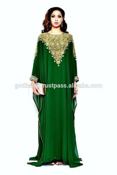 Dubai very fancy kaftans / abaya jalabiya Ladies Maxi Dress Wedding gown earings: Dubai Abaya on sale/Top Quality Based Caftans Arab Fashion, Muslim Fashion, Modest Fashion, African Fashion, Fashion Dresses, Style Caftan, Caftan Dress, Evening Dresses For Weddings, Evening Outfits