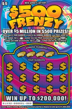 More Than $25.6 Million in Prizes. Approximately 7.8 million $500 FRENZY tickets are initially planned in this game. Click on the image to learn more about $500 FRENZY!