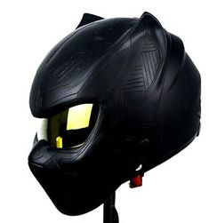 Black Panther Motorcycle Full Face Helmet DOT Safety Custom Work Matt Paint – Motorcycle helmets – – Top Motorrad And Wallpaper Dot Motorcycle Helmets, Bobber Motorcycle, Women Motorcycle, Motorcycle Paint, Motorcycle Touring, Motorcycle Design, Black Panthers, Predator, Moto Cross