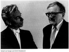 Herbert von Karajan y Dimitri Shostakovich