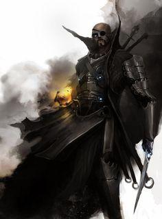 Fantasy styled avenger S.H.E.I.L.D. Agent  Nick Fury