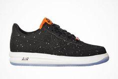 Nike Lunar Force 1 Low Splatter Pack Black Speckle Shoes Black Cool Grey Hot Lava 654256 007 - Air Force 1
