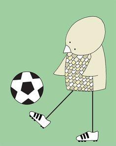 Sports Nursery Art Soccer Nursery Art Print by barkingbirdart, $18.00
