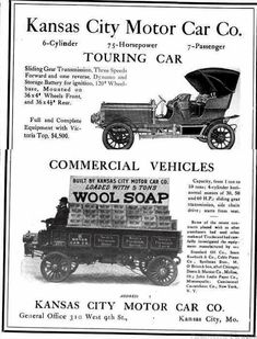 1906 Kansas City Automobile  Advertisement