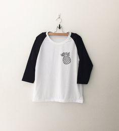 Pineapple Shirt Tumblr Pocket Tee Shirts Teen Hipster by CozyGal