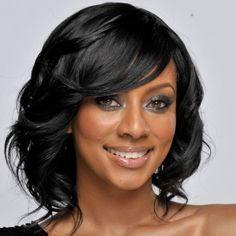 Short black hair photos of short black hairstyles Keri Hilson Hairstyles, Wavy Bob Hairstyles, Short Black Hairstyles, Elegant Hairstyles, Prom Hairstyles, Braided Hairstyles, Hairstyles Pictures, Bridesmaids Hairstyles, Classic Hairstyles
