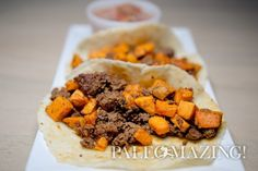 Paleo Tacos – Beef Chorizo and Sweet Potato