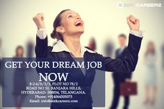 Make your dream come true at Seekcareerz.com! #seekcareerz #job