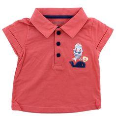 Camiseta Roja Cuello Manga Corta Niña
