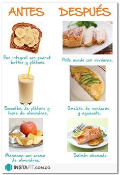 ¿Qué comer antes y después de hacer ejercicio? | Blog | InstaFit México