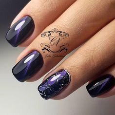 Дизайн Ногтей 2019 Shellac Nail Designs, Purple Nail Designs, Shellac Nails, Nail Polish, Fun Nails, Pretty Nails, Natural Nail Designs, Colorful Nail Art, Cat Eye Nails