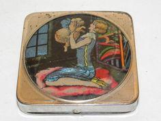 Vintage Art Deco Stratnoid Flapper Powder Compact