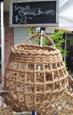 Small Basket - Holds Fresh Onions, Potatoes or Fruit