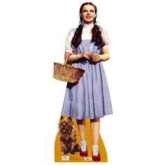 Dorothy Holding Toto Wizard of Oz 75th Anniversary Lifesize Standup ❤ liked on Polyvore featuring home and home decor