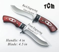 8 Groomsman, Groomsmen Gifts- Personalized Hunting Knives, Engraved Knives, Custom Knives with Inlay Rosewood Handle-Free Engraving-KC69