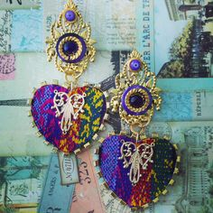 Statement Earrings by Venezuelan designer Katherine Cordero