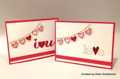 March 05, 2014  Cards From Ellen, With Love | Stampin' Up! Language of Love (133077), Happy Congratulations (133047) and Best of Love (132197). Thinlit flip i <3 u die