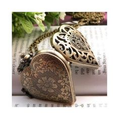 Amazon.com: Vintage Jewelry - Victorian Vintage Heart Shaped Antique Quartz Watch Locket Pendant Necklace - Wrapped & Gift Boxed: Jewelry