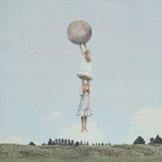 collage vintage surrealista retro fotografía moda handmade
