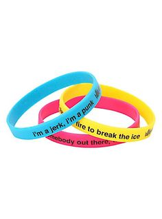 Blink-182 Lyrics Rubber Bracelet 3 Pack,