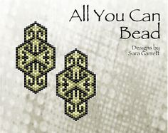 Peyote Earrings Pattern 106 Bead Weaving INSTANT DOWNLOAD PDF Odd Count