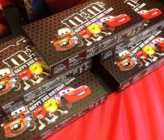 Custom Disney Cars M&Ms. Great for party favors