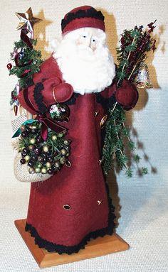 Lynn Haney - The Bell Keeper Old World Christmas Ornaments, Christmas Deco, Vintage Christmas, Christmas Stockings, Santa Clause, Shadow Box, Bears, Designers, Dolls
