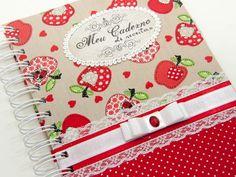 Caderno de Receitas - maçãs e corações                                                                                                                                                                                 Mais