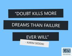 Chase your dreams, don't doubt them. #motivation #dream #doubt #failure