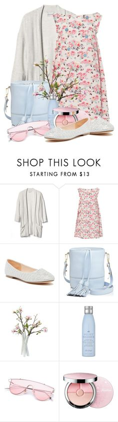 """""""Untitled #11956"""" by queenrachietemplateaddict ❤ liked on Polyvore featuring Gap, Emilia Wickstead, Lauren Lorraine, Milly, Drybar, Guerlain and Cara"""